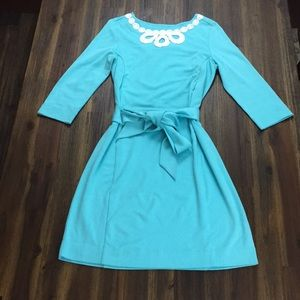 Lilly Pulitzer sky blue long sleeve belted dress
